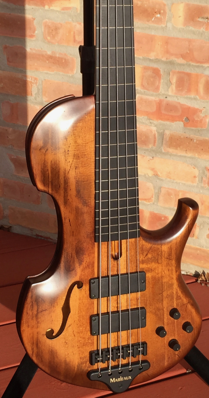 marleaux contra 5 fretless semi acoustic bass guitar luthiers access group. Black Bedroom Furniture Sets. Home Design Ideas