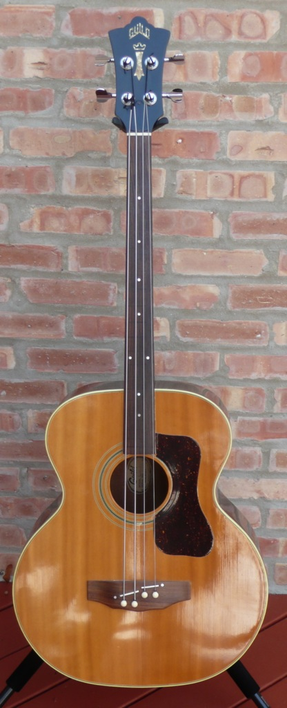 guild b50 fretless acoustic bass guitar made in 1976 luthiers access group. Black Bedroom Furniture Sets. Home Design Ideas